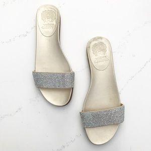NWOT Vince Camuto Rhinestone Slide Sandals